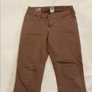 Womens true religion khaki skinny jeans size 28
